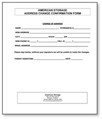 free address change form template